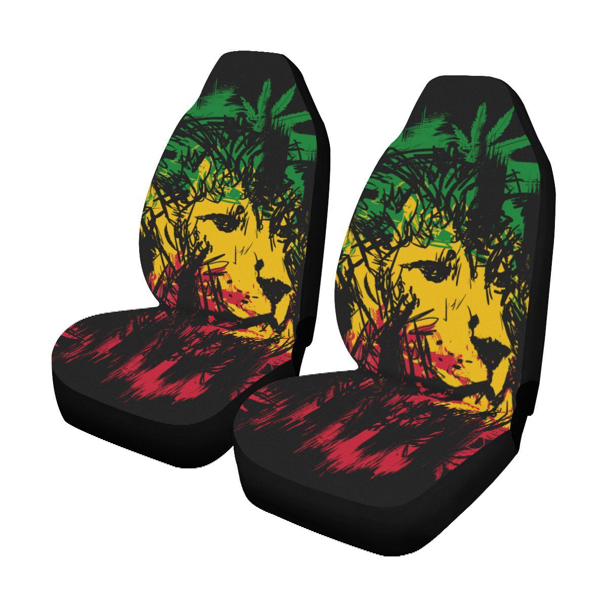 Tiger 2 Animal Print Front Seat Covers