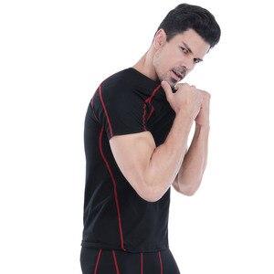 Image 5 - Acefancy черная компрессионная футболка Cop Top с коротким рукавом, Спортивная футболка для мужчин, спортивные шорты, Стрейчевые Топы 71605, мужская спортивная одежда, спортивная одежда