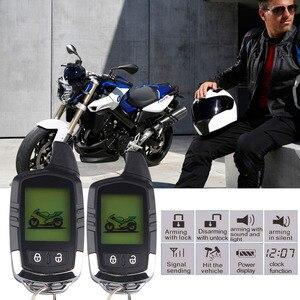 Image 2 - İki Yönlü Motosiklet Hırsız Alarm Sistemi Güvenlik Uyarısı Su Geçirmez Alarma Moto LCD Ekran Yanıp Sönen Işık Alarmı Uzaktan Kumanda