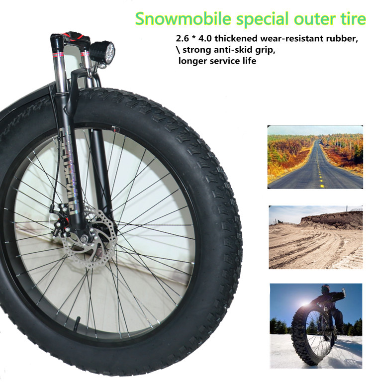 New type of electric bicycle 48v1000w / 2000W mountain beach bike super large lithium battery 15ah / 20Ah electric snowmobile bi