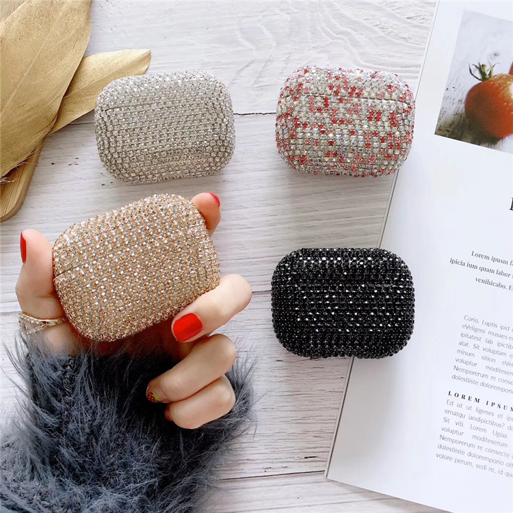 Luxury Bling diamonds Glitter hard case for Apple Airpods Pro 3 Wireless Bluetooth Earphone Accessories Fashion cover