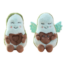 22cm Kawaii Couple Avocado Plush Fruit Toys Cartoon Angel Love Wings Avocado Dad Mom Doll for Kids Gift Valentines Toy цены
