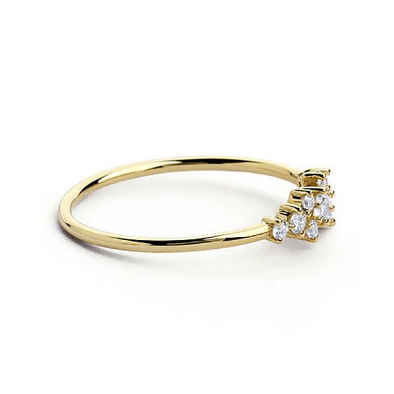 ขายร้อนคริสตัลแหวนทอง/เงิน/Rose สีทองหญิงแหวนหมั้นพรรคเครื่องประดับของขวัญ