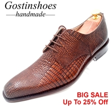 Goodyear Shoes Handmade Men Formal Oxford Shoes Elegant Solid Brown Leather Pointed Toe Dress Shoes for Wedding Office GSTN005 стоимость