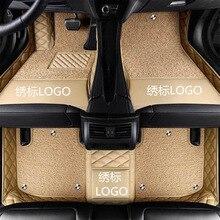 цена на Car floor mats for Volvo C30 S40 S60L S80L s90 V40 V60 XC60 v90 XC90 xc70 XC-Classi all logo waterproof car carpet Car styling