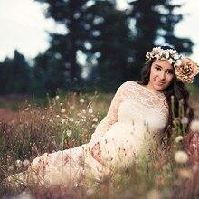 платья для беременных для фотосессии беременных платья Vestidos беременных материнства платье Vestido embarazada с длинным рукавом лоскутное Z4 в аренду