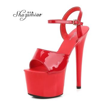 Shuzumiao Women Shoes Sexy Show Sandals 13 15 17cm  Platform Girls Shoe High Heels Party Club Drop Sale Stripper - discount item  31% OFF Women's Shoes