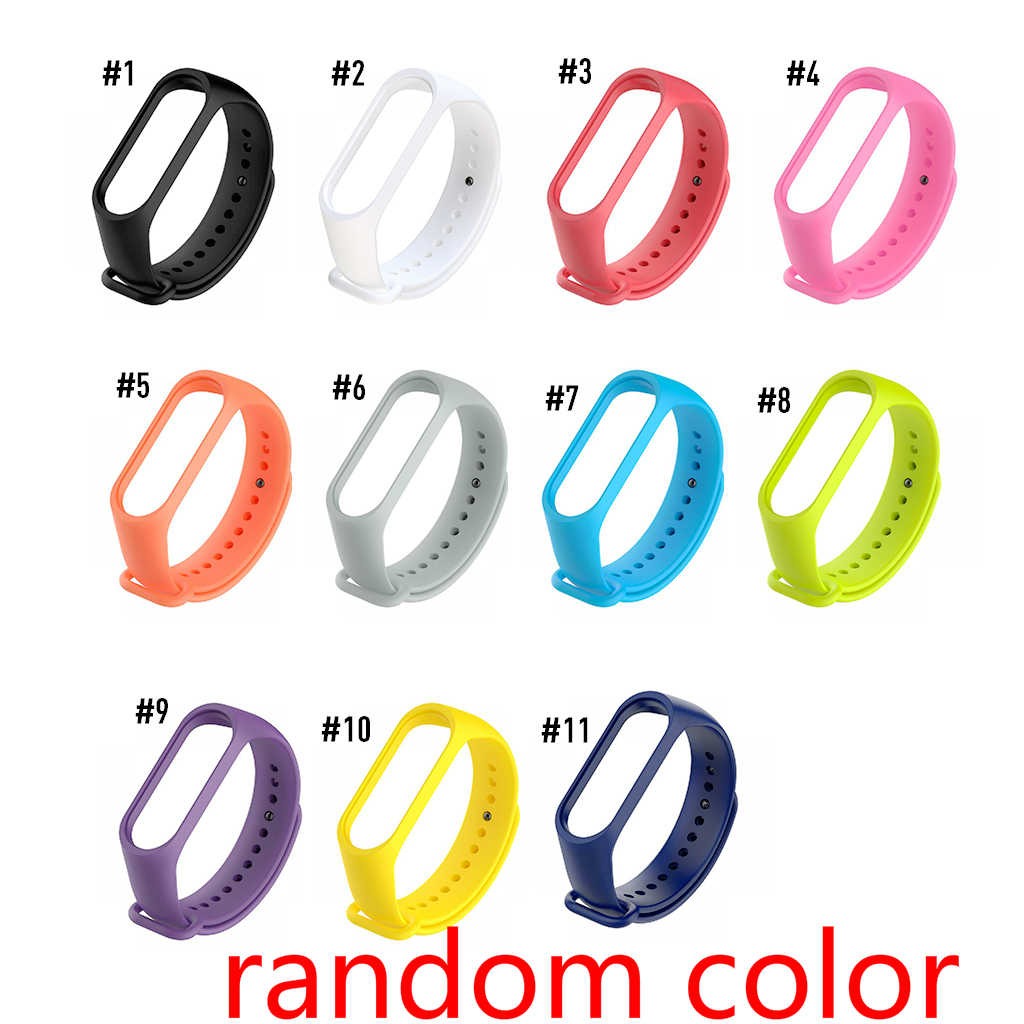 Smart Bracelet Replacement New Sport Watch Band Solid Color Wristband TPU Material Wrist Strap Replacement for Xiaomi Mi Band 3