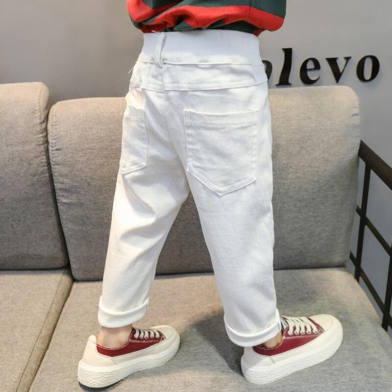 Джинсы для мальчиков и девочек, повседневные белые однотонные джинсы со средней талией, для детей 1 7 лет|Джинсы| | АлиЭкспресс