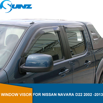 цены Car Wind Deflector For Nissan Navara Terrano D22 2002 2003 2004 2005 2006 2007 2008 2009 2010 2011 2012 2013 Window Shield SUNZ
