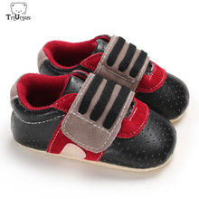 Soft Sole Leather Baby Shoes 2020 New Style Baby Boys Girls Sneakers Breathable Hook Loop First Walkers Baby Shoes First Steps