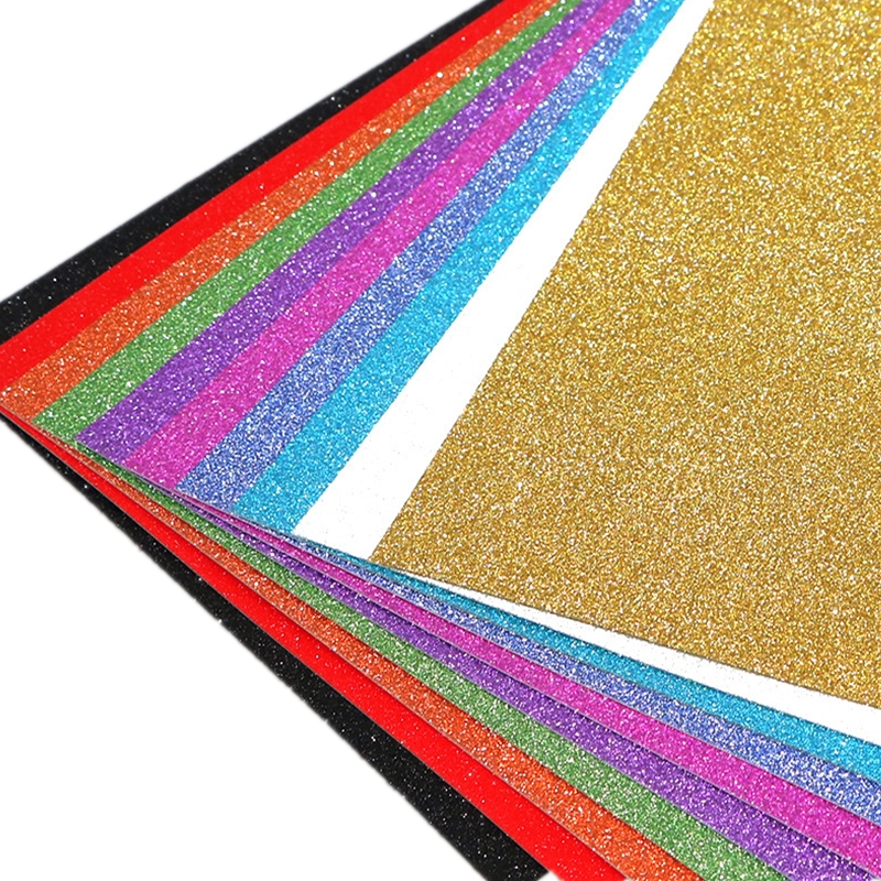 1/5PCs A4 Glitter Embossed Paper Colorful DIY Sewing Packaging Paper Card For Kindergarten Handmade Toys Bags Crafts Decoration