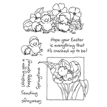 Happy Easter Spring  Blessing Words Silicone Seal Stamp DIY Scrapbooking Stamps D2TD