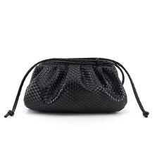 Handbags Women Clutches-Bags Dumpling-Bag Single-Shoulder Soft Slant