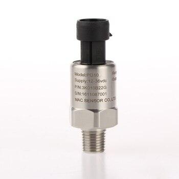 Mac transmitter P10R pressure sensor 0-0.1 bar 0-5v, 0.5-4.5v, 4-20mA pressure transducer 0 2 5mpa m20 1 5 4 20ma flat membrane pressure transmitter flush diaphragm pressure sensor sanitary pressure transmitter