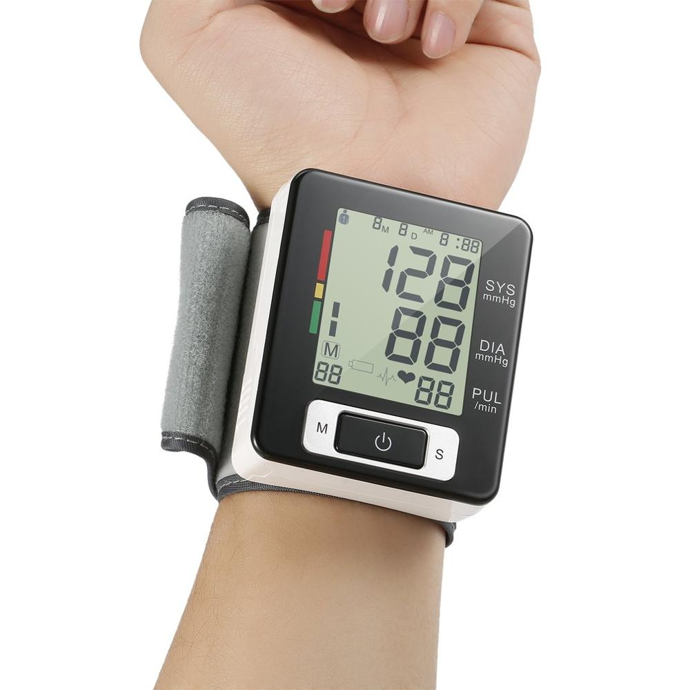 Automatic Wrist Monitor Tonometer Meter Digital LCD Screen Portable Health Care Sphygmomanometer Worldwide Sale
