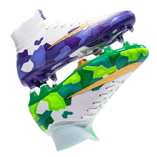 High Ankle Soccer Shoes Men Breathable Football Boots Long Spikes Soccer Cleats Turf Training Shoes Sneakers Women FG Size 35-45