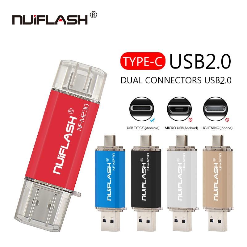 Usb c pen drive para telefone, 16gb 32gb 64gb usb stick 128gb 256gb u disco para huawei typec phone/samsung usb c