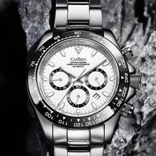 Cadisen c8181g relógio masculino máquinas mecânicas relógios cerâmica daytona relógio de pulso 100 m à prova dwaterproof água relógio de pulso automático data