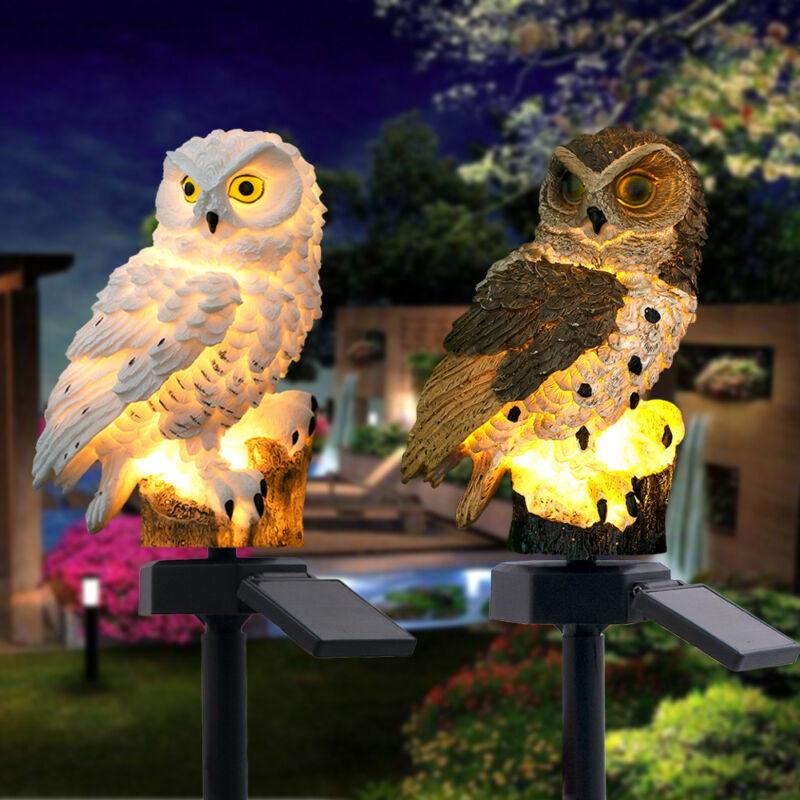 Owl LED Garden Lights Solar Night Lights Owl Shape Solar-Powered Lawn Lamp 2019 Night Lights Home Garden Creative Solar Lamps