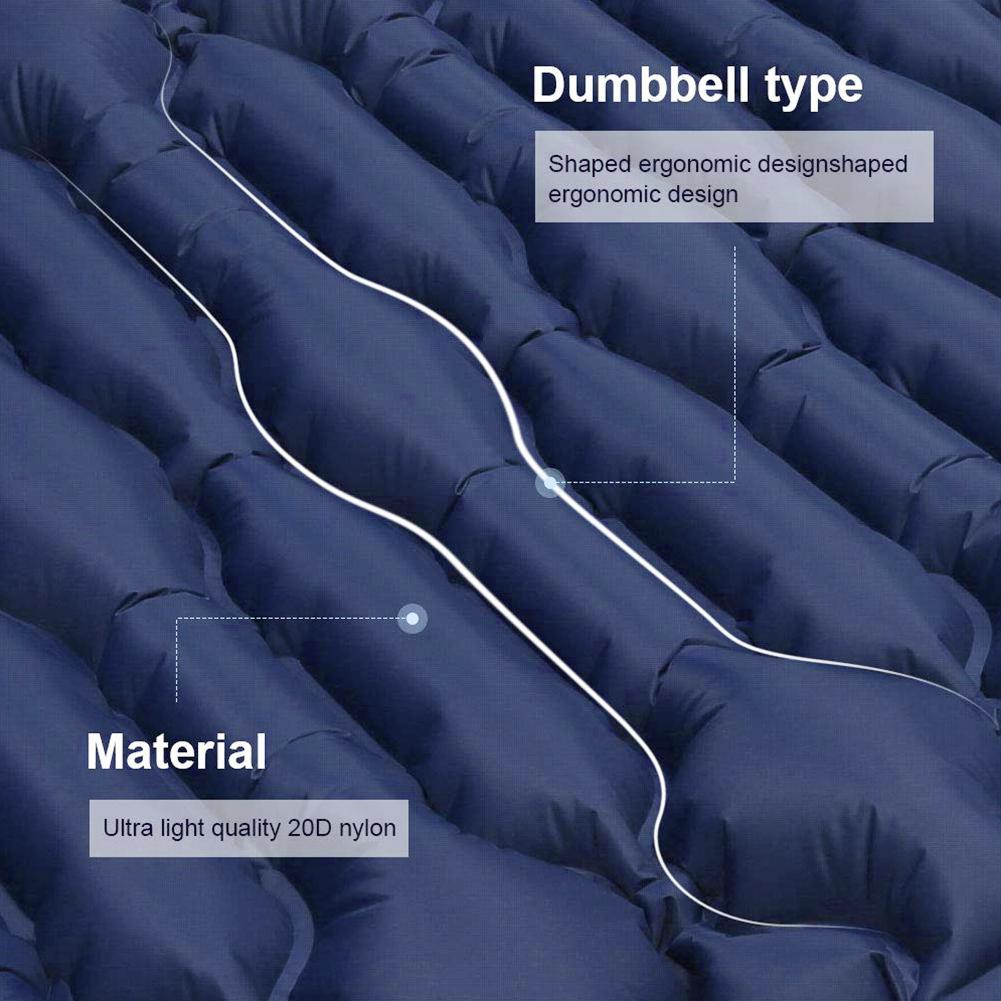 Almofada de dormir acampamento ultraleve inflável dormir