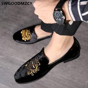Image 2 - Resmi ayakkabı erkekler klasik İtalyan marka erkek parti ayakkabıları kuaför nakış Mens elbise ayakkabı mokasen Sepatu üzerinde kayma Pria 48 Bona