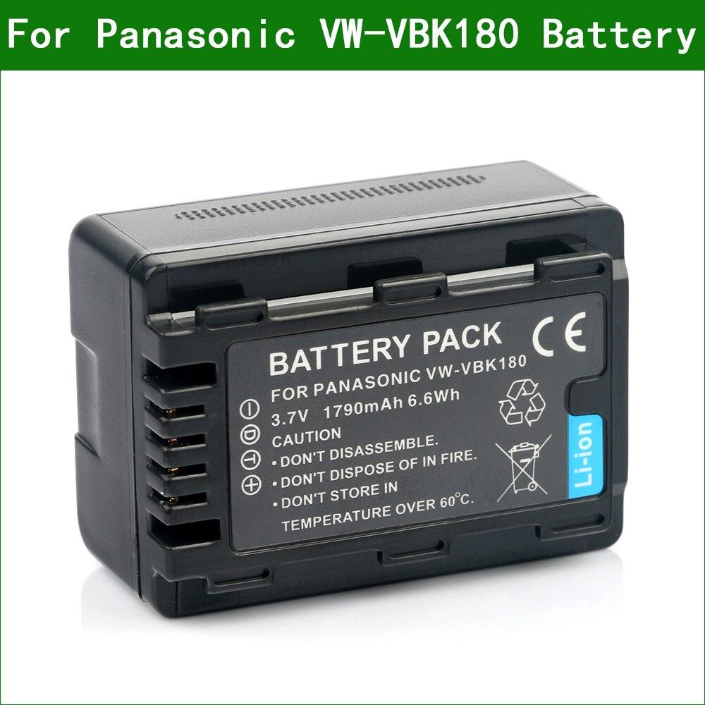 VW-VBK180 Battery and Battery Charger for Panasonic HC-V10 HC-V100 HC-V500 HC-V700 Camcorder