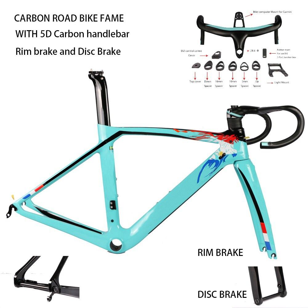 XR4 fibre de carbone cadre de vélo de route fourche tige de selle avec 5D guidon en carbone UD armure jante frein à disque cadre de carbone