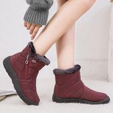 Botas de invierno botas de nieve para mujer zapatos de piel caliente botines de mujer botas acolchadas impermeables zapatos de invierno para mujer Botines de talla grande