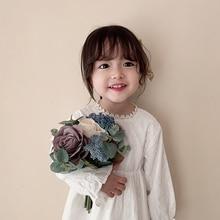 Girlsdresses Babies Super Occidental Stijl Kinderen Lange Mouw Girlsprincess Jurken Meisjes Kleding