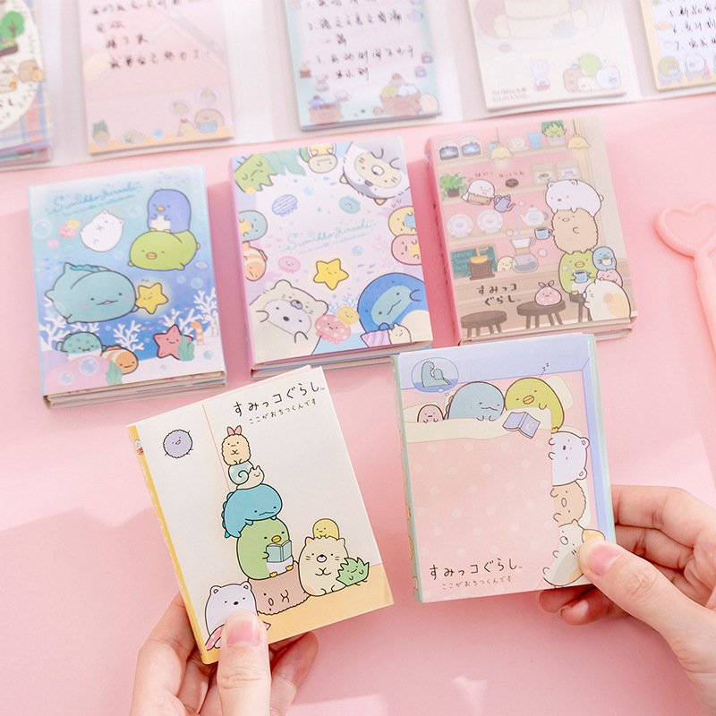 Sumikko Gurashi Coffee House 6 Folding Memo Pad Sticky Notes Escolar Papelaria School Supply Bookmark Label