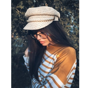 Image 5 - Pearl summer hat female new light straw ventilation in spring and summer fashion leisure shade sunscreen cap