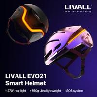 Beste Original LIVALL EVO21 Smart MTB Bike Licht Helm für männer frauen Fahrrad Radfahren Elektrische roller Helm Mit Auto SOS alarm
