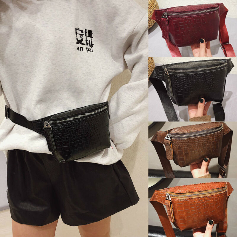 Waist Bag Strap Bag Pack For Women Brand Designer Luxury Crocodile High Quality PU Leather Women Bag Fanny Pack Waist Packs