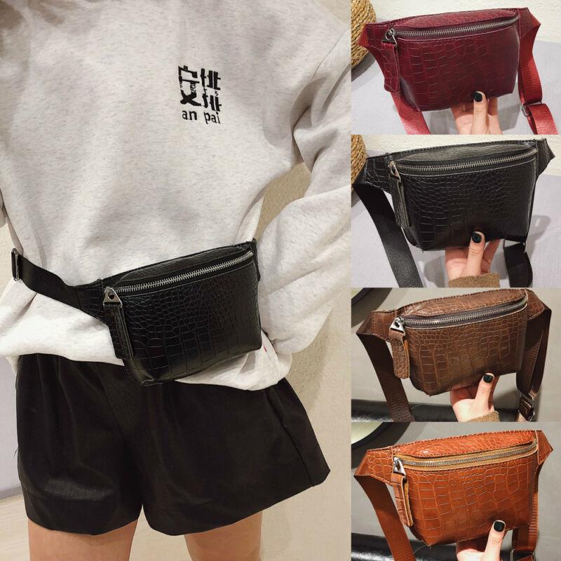 Waist Bag Strap Bag Pack For Women Brand Designer Luxury Crocodile High Quality PU Leather Women Bag Fanny Pack Waist Packs