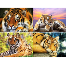 5D Diamond Embroidery Tiger Diy Diamond Painting  Animals Picture Rhinestone Mosaic Pattern Crafts Home Decor gift full 5d diy diamond painting cross stitch kit tiger picture gift round diamond embroidery wild animals mosaic pattern home decor