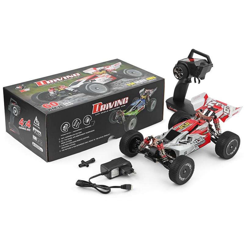 Di Alta Qualità Wltoys 144001 1/14 2.4G di Controllo Remoto Rc Auto 4WD Ad Alta Velocità da Corsa Modelli di Veicoli 60Km/H Dei Bambini regalo Giocattoli - 6