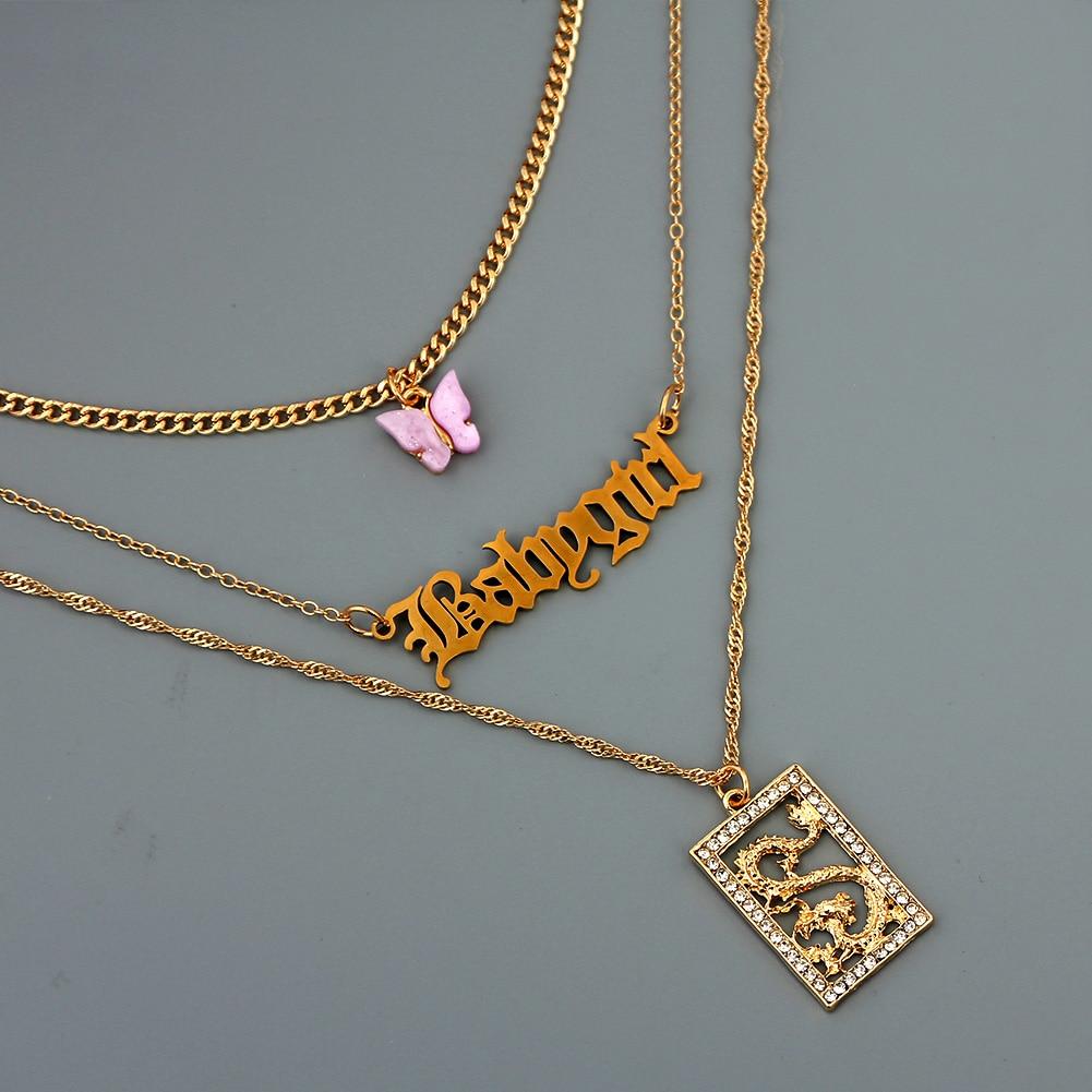 Женское многослойное ожерелье чокер just feel boho с буквами