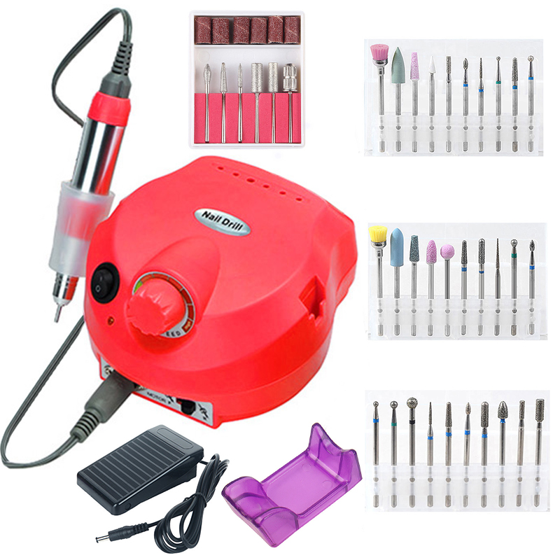 35000/20000 RPM Electric Nail Drill Machine Set Pedicure Manicure Tips Gel Polishing Tools Strong Nail Drill Equipment Pedal Kit