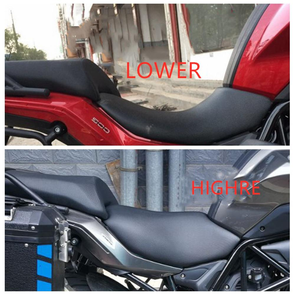 for Benelli TRK502  TRK 502 Modified Hump Lower Higher Motorcycle Seat Saddle-in Covers & Ornamental Mouldings from Automobiles & Motorcycles