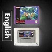 Secret of Mana batería para RPG, versión europea, tarjeta de juego, guardar con caja de venta al por menor