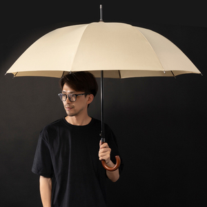Image 3 - New Arrival Japanese Brand Long Umbrella 8K Windproof Wooden Handle Large Men Umbrellas Rain Quality Classic Business Paraguas