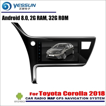 """YESSUN 9"""" Android 8.0 For Toyota Corolla 2018 Car Android Radio Player GPS Navi Map Navigation Media No DVD"""