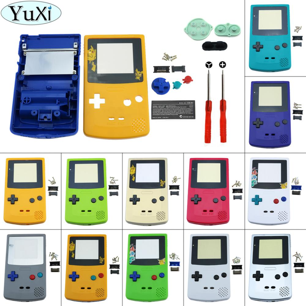 YuXi Plastic Game Shell Housing Case Cover for Nintend for Gameboy Color Game Console for GBC Shell with conductive d pad + Tool(China)