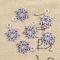 20 штук подвески в виде снежинок 19x13 мм антикварные подвески из серебра ювелирных изделий DIY ручной Тибетский поиск ювелирные изделия