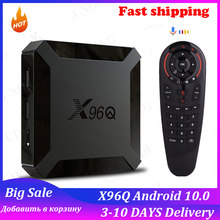 X96q android 10 smart tv box 2gb 16gb allwinner h313 quad core 1gb 8gb 4k 2.4g wifi conjunto superior rápido x96 q caixa vs x96mini 2021 tvbox