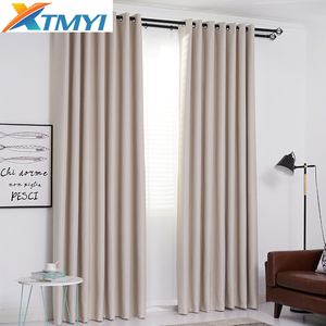 Image 4 - Modern Solid Color Blackout Curtains for Living Room Bedroom Window Treatment Blinds Dark Gray Kitchen Curtains Drapes Custom