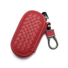 Véritable étui à clés en cuir hommes femmes porte clés organisateur porte cartes intelligente femme de ménage voiture clé sac porte clés Mini carte sac