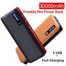 30000 MAh Portable Power Bank 3 USB LED Battery Powerbank Fa