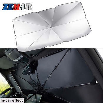 Car Mini Folding Sun Shade Umbrella Parasol for BMW G20 E92 E30 E34 X3 E83 E87 F25 X6 E71 F11 E46 COUPE E38 F22 F34 E61 E93 E65 image
